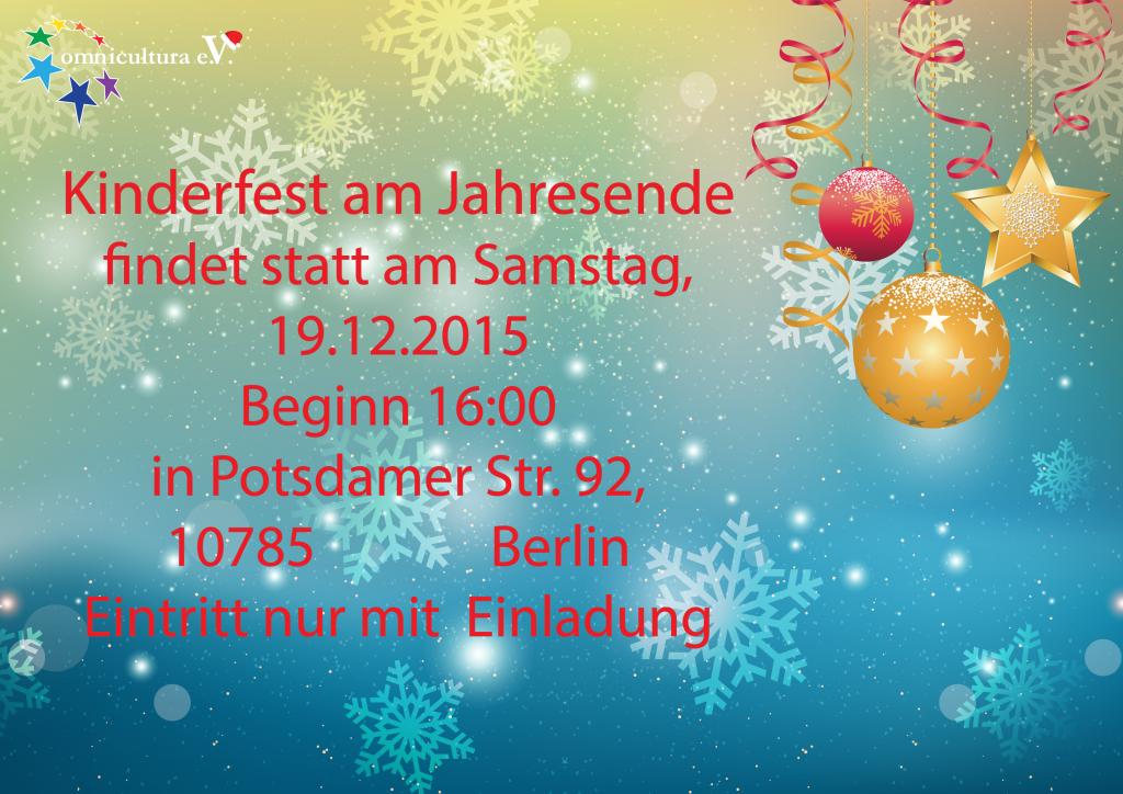 WINTERMÄRCHEN  — Silvester und Neujahr - Festgestaltung